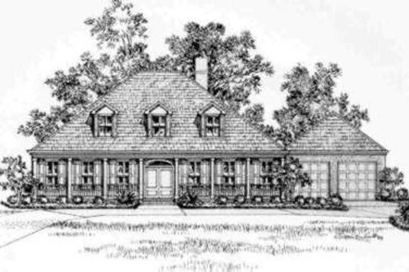 Southern Exterior - Front Elevation Plan #325-247