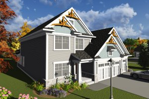 Home Plan - Traditional Exterior - Front Elevation Plan #70-1246