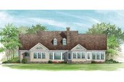 Country Style House Plan - 3 Beds 2 Baths 2777 Sq/Ft Plan #137-156 Exterior - Rear Elevation