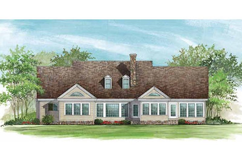 Country Exterior - Rear Elevation Plan #137-156 - Houseplans.com