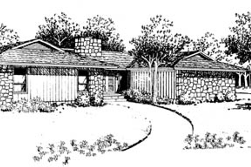 Modern Style House Plan - 3 Beds 2 Baths 1859 Sq/Ft Plan #10-140 Exterior - Front Elevation