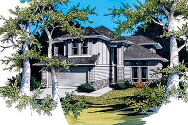 Prairie Exterior - Front Elevation Plan #48-304