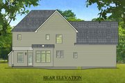 Colonial Style House Plan - 3 Beds 2.5 Baths 1866 Sq/Ft Plan #1010-208 Exterior - Rear Elevation