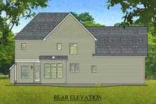 House Plan Design - Colonial Exterior - Rear Elevation Plan #1010-208