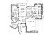 European Style House Plan - 4 Beds 3.5 Baths 2590 Sq/Ft Plan #310-630 Floor Plan - Main Floor