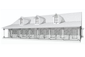 Ranch Exterior - Front Elevation Plan #63-321