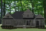 Traditional Style House Plan - 4 Beds 3.5 Baths 2833 Sq/Ft Plan #898-1 Exterior - Rear Elevation