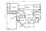 Craftsman Style House Plan - 4 Beds 3 Baths 2373 Sq/Ft Plan #17-2373 Floor Plan - Main Floor Plan