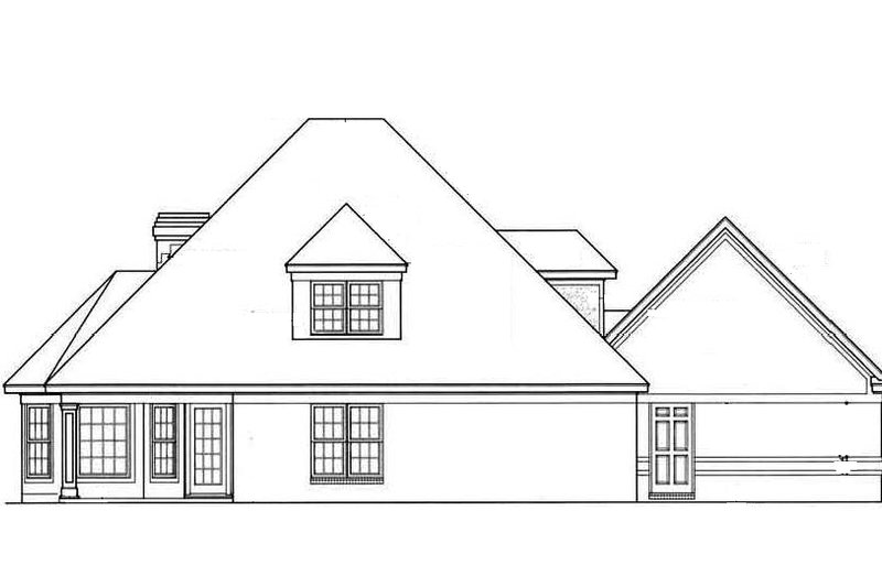 European Exterior - Rear Elevation Plan #45-196 - Houseplans.com
