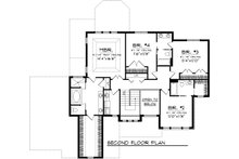 Traditional Floor Plan - Upper Floor Plan Plan #70-1088
