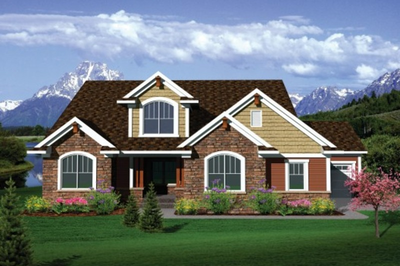 Exterior - Front Elevation Plan #70-1104 - Houseplans.com