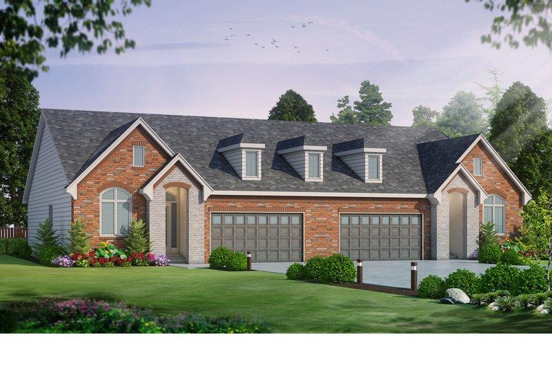 House Plan Design - European Exterior - Front Elevation Plan #20-2436