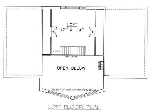 Bungalow Floor Plan - Upper Floor Plan Plan #117-511