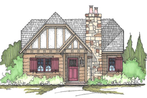 Front View - 980 square foot Cottage