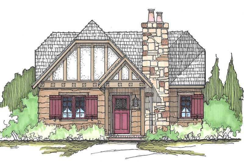 Cottage Style House Plan - 2 Beds 1 Baths 982 Sq/Ft Plan #43-109