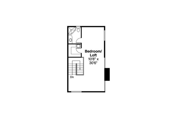 Beach Floor Plan - Upper Floor Plan Plan #124-1094