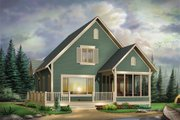 Cottage Style House Plan - 3 Beds 1.5 Baths 1381 Sq/Ft Plan #23-579 Exterior - Front Elevation
