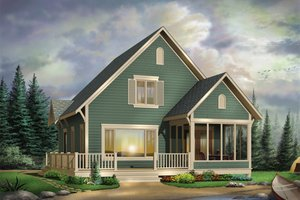 Cottage Exterior - Front Elevation Plan #23-579