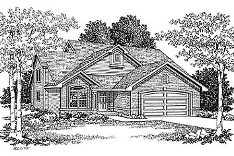 Traditional Exterior - Front Elevation Plan #70-198