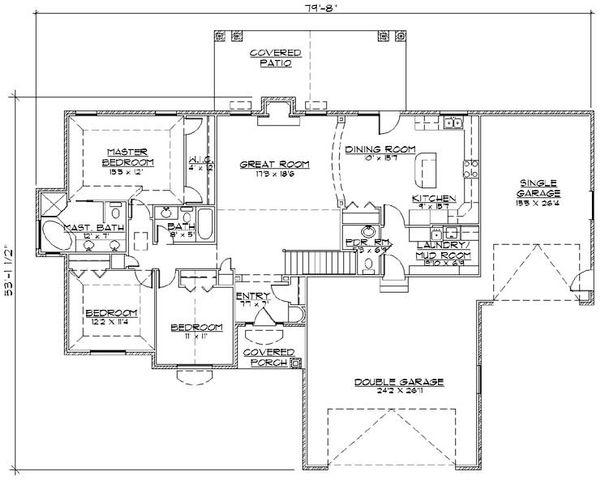 House Plan Design - Traditional Floor Plan - Main Floor Plan #5-247