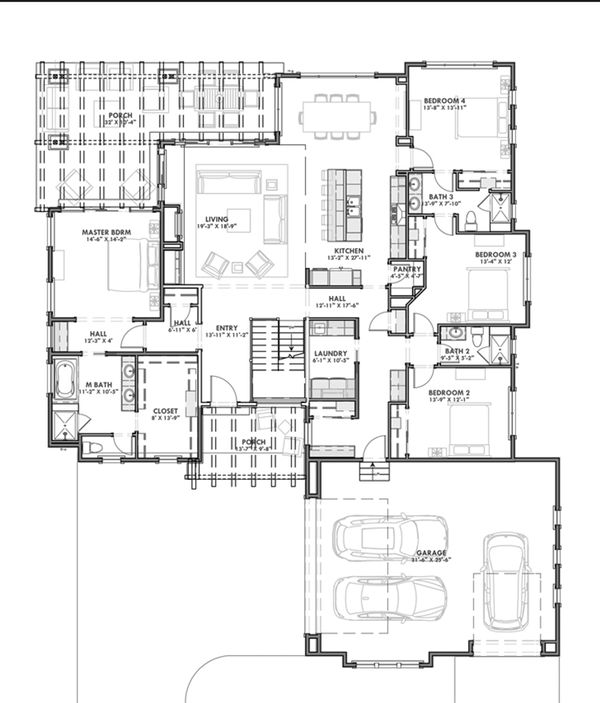Dream House Plan - Prairie Floor Plan - Main Floor Plan #1069-8