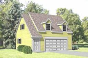 Country Style House Plan - 1 Beds 1 Baths 450 Sq/Ft Plan #116-229 Exterior - Front Elevation
