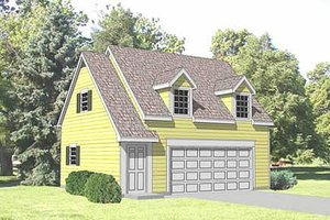 Country Exterior - Front Elevation Plan #116-229