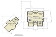 Farmhouse Style House Plan - 5 Beds 3.5 Baths 3190 Sq/Ft Plan #1070-23 Floor Plan - Upper Floor Plan