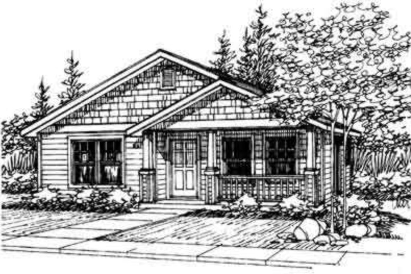 Cottage Exterior - Front Elevation Plan #124-309 - Houseplans.com