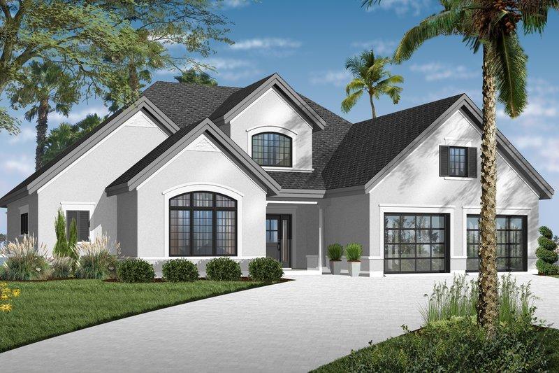 Dream House Plan - Mediterranean Exterior - Front Elevation Plan #23-2242