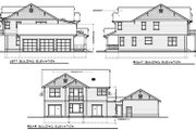 Craftsman Style House Plan - 5 Beds 3 Baths 3505 Sq/Ft Plan #100-459 Exterior - Rear Elevation