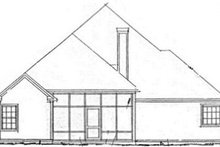 Dream House Plan - Traditional Exterior - Rear Elevation Plan #20-1418
