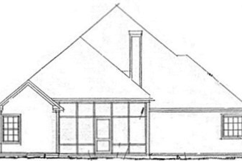 Traditional Exterior - Rear Elevation Plan #20-1418 - Houseplans.com