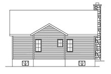 Cottage Exterior - Rear Elevation Plan #22-570