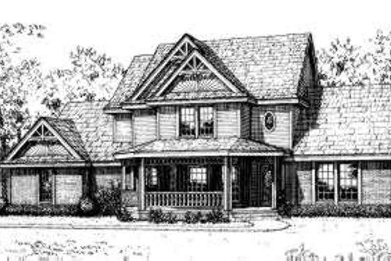 Victorian Style House Plan - 3 Beds 2.5 Baths 1920 Sq/Ft Plan #310-176 Exterior - Front Elevation