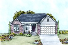 Dream House Plan - Traditional Exterior - Front Elevation Plan #20-2099