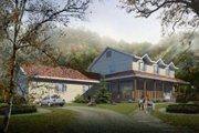 Traditional Style House Plan - 4 Beds 2.5 Baths 2458 Sq/Ft Plan #1-976 Exterior - Front Elevation