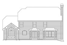 Home Plan - Colonial Exterior - Rear Elevation Plan #57-290