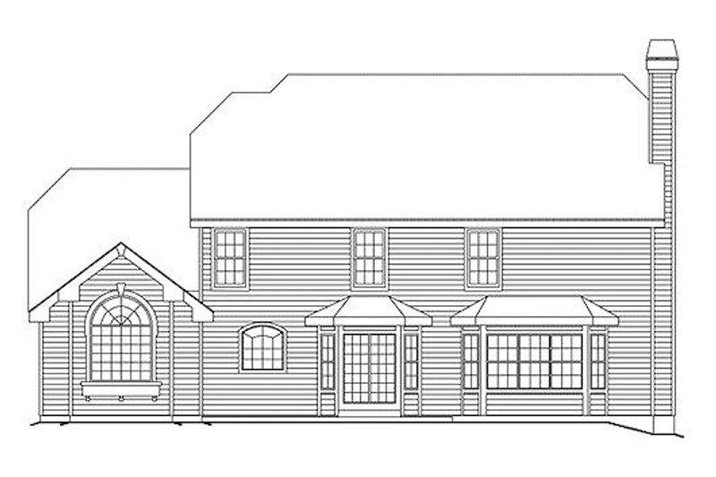 Colonial Exterior - Rear Elevation Plan #57-290 - Houseplans.com