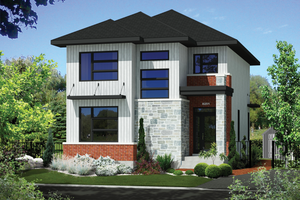Contemporary Exterior - Front Elevation Plan #25-4623