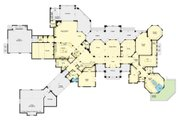 European Style House Plan - 4 Beds 5.5 Baths 6594 Sq/Ft Plan #930-516 Floor Plan - Main Floor