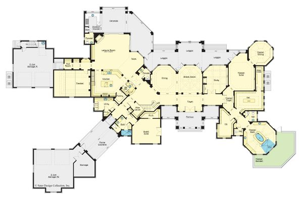European Floor Plan - Main Floor Plan #930-516