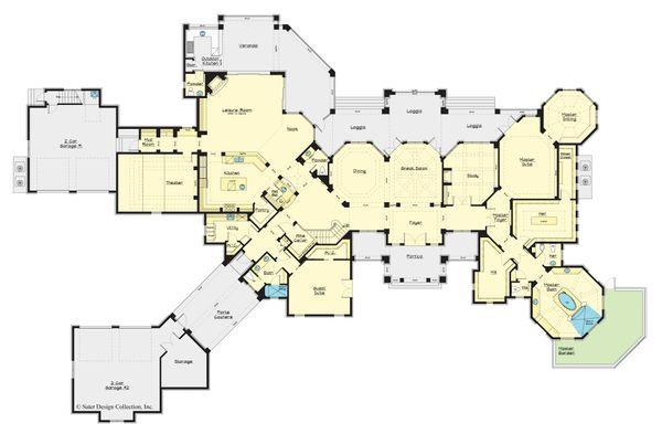 Architectural House Design - European Floor Plan - Main Floor Plan #930-516