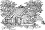European Style House Plan - 4 Beds 2.5 Baths 2725 Sq/Ft Plan #329-265 Exterior - Front Elevation