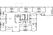 Country Style House Plan - 15 Beds 16 Baths 6619 Sq/Ft Plan #117-265 Floor Plan - Main Floor Plan