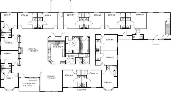 Country Floor Plan - Main Floor Plan Plan #117-265