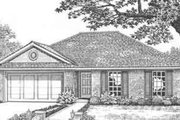 Traditional Style House Plan - 3 Beds 2 Baths 1213 Sq/Ft Plan #310-414 Exterior - Front Elevation