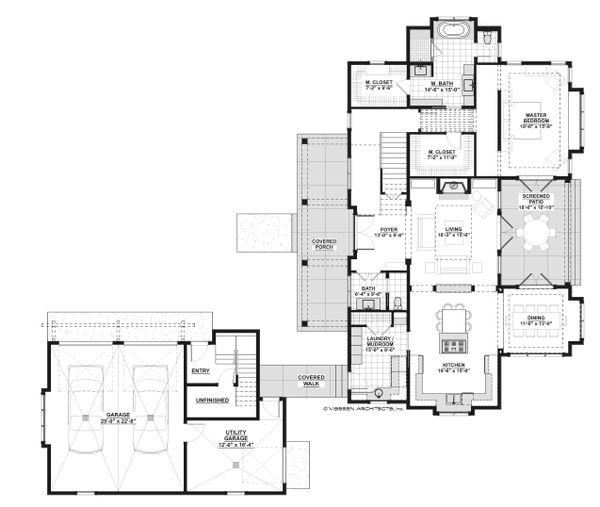 Country Floor Plan - Main Floor Plan Plan #928-13