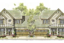 Cottage Exterior - Front Elevation Plan #20-1267