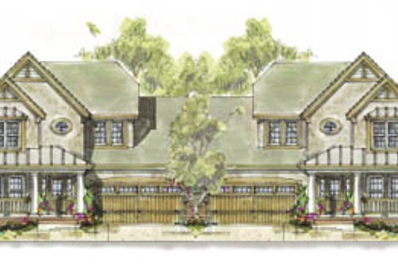 Cottage Style House Plan - 3 Beds 2.5 Baths 3398 Sq/Ft Plan #20-1267 Exterior - Front Elevation
